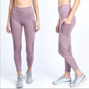 Mauve mesh leggings